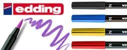 10 x EDDING 1340 ARTISTS BRUSH FELT TIP PEN with Flexible Brush Style Tip