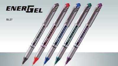 10 x PENTEL ENERGEL BL27 GEL ROLLERBALL PEN 0.7mm Tip