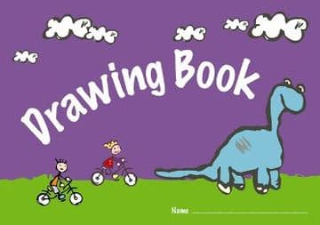 2 x A4 CHILDRENS KIDS DRAWING BOOKS 100gsm 24 Page