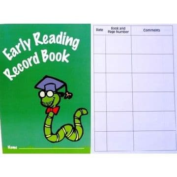 2 x EARLY READING RECORD BOOK 32 Page by IVY Stationery - MADE IN THE UK