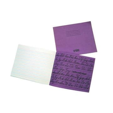 2 x HANDWRITING EXERCISE BOOKS 4mm BLUE LINES with 16mm RED LINES 32 Page