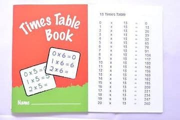 2 x TIMES TABLE PRACTICE BOOK SCHOOL BOOK EXERCISE BOOK A6 by IVY