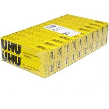 20 x UHU ALL PURPOSE GLUE 20ml EXTRA STRONG CLEAR ADHESIVE [Pack of 20 Tubes]