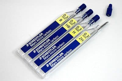 24 x STAEDTLER MARS MICRO 0.3mm 2H MECHANICAL PENCIL REFILL LEADS [2 TUBES]