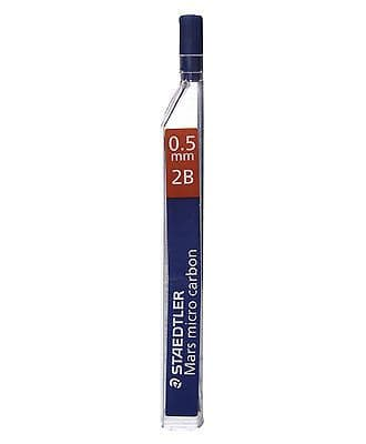 24 x  STAEDTLER MARS MICRO 0.5mm 2B MECHANICAL PENCIL REFILL LEADS  [2 TUBES]