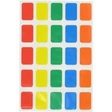 250 to 2,500 OBLONG STICKY LABELS 12 x 18mm SELF ADHESIVE STICKERS ASSTD COLOURS