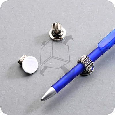 3 x SELF ADHESIVE SINGLE PEN HOLDER POCKET PEN CLIP perfect for Nurses, Doctors