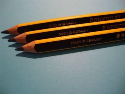 3 x STAEDTLER NORIS NORRIS JUMBO LEARNER'S PENCILS HB