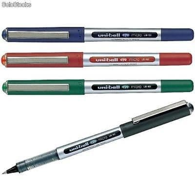 3 x UNI-BALL EYE MICRO 0.5mm TIP ROLLERBALL PEN UB-150
