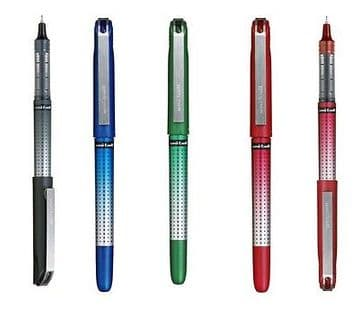 3 x UNI-BALL EYE NEEDLE POINT PENS UB-185s 0.5mm Ball writes 0.4mm Line