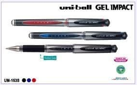 3 x UNI-BALL GEL IMPACT BROAD 1.0 ROLLER BALL PEN UM-153S