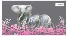 """36 x HELIX PENCIL CASE """"ELEPHANTS"""" DESIGN  """"CLASS PACK"""""""