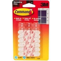 3M COMMAND SELF ADHESIVE DECORATION FAIRY LIGHT HOOKS