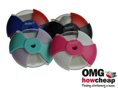 4 x HELIX DISC ERASERS Assorted Colours