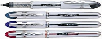 4 x UNI-BALL VISION ELITE ROLLERBALL UB-200 - FULL RANGE OF COLOURS AVAILABLE
