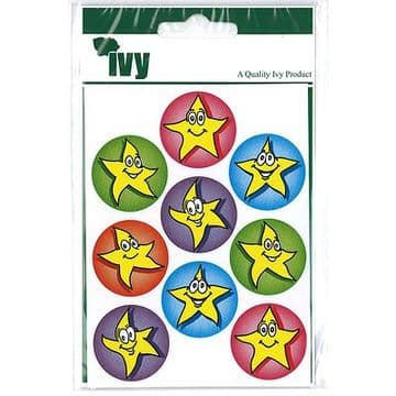 54 MOTIVATIONAL STICKERS SELF ADHESIVE LABELS 19mm - STARS