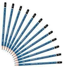 6 x STAEDTLER MARS LUMOGRAPH PENCILS by Grade