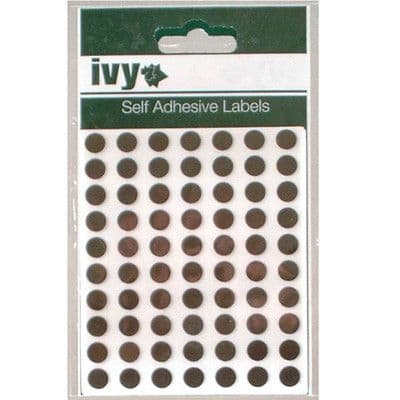 980 STICKY BLACK 8mm LABELS DOTS ROUND CIRCLES SELF ADHESIVE STICKERS by IVY