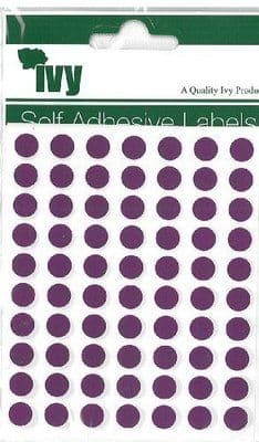 980 STICKY PURPLE 8mm LABELS DOTS ROUND CIRCLES SELF ADHESIVE STICKERS by IVY
