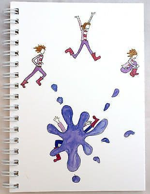 A6 WIRO NOTEPAD BOOK JOTTER BOOK SPIRAL SPLASH DESIGN LINED 100gsm  80 Page