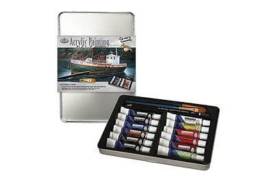 ARTISTS ACRYLIC PAINTING ART SET IN TIN BY ROYAL & LANGNICKEL