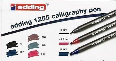 EDDING 1255 CALLIGRAPHY PEN ITALIC PENS Fine, Medium, Broad Tip - Singles