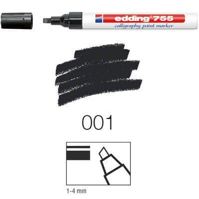 EDDING 755 CALLIGRAPHY PAINT MARKER - LOW ODOUR 4 Colours Available