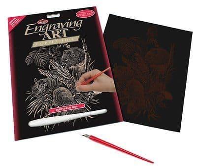 ENGRAVING ART SET - FIELD MICE (COPPER FOIL) by ROYAL & LANGNICKEL