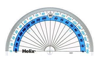 HELIX 10cm 180* PROTRACTOR SCHOOL MATHS