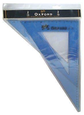 HELIX OXFORD LARGE 31cm 45* & 60* SET SQUARE SET Contains 2 Set Squares