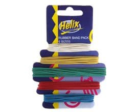 HELIX RUBBER BANDS CARDED 5 Sizes 10, 12, 14, 16 & 18