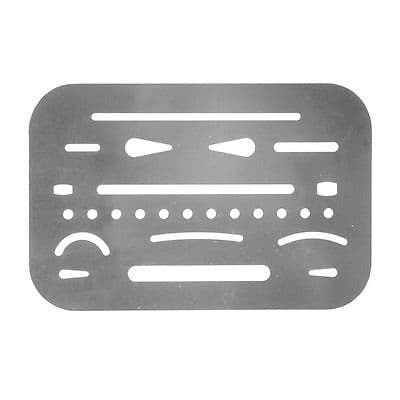Helix Technical Metal Erasing Shield Drawing Template