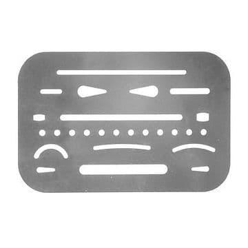 Helix Technical Metal Erasing Shield Drawing Template