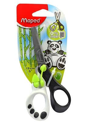 MAPED CHILDREN'S KIDS RIGHT HANDED SPRING ASSISTED SCISSORS GREEN