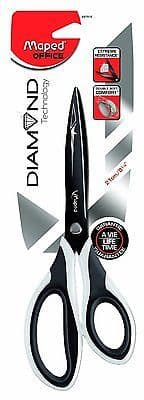 MAPED DIAMOND PROFESSIONAL SOFT GRIP SCISSORS 21cm - LIFETIME GUARANTEE