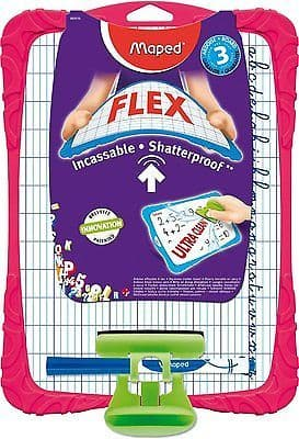 MAPED FLEX CHILDRENS WHITEBOARD KIT WIPE BOARD MAPED FLEX with Pen & Eraser