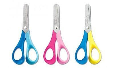 MAPED REFLEX 3D VIVO LEFT HANDED SCISSORS CHILDREN KIDS 12cm in 3 Colours