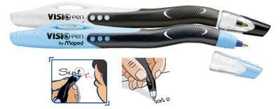 MAPED VISIO LEFT HANDED BALL POINT PEN - in Black or Blue Ink