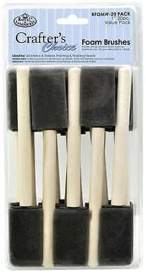 "PACK OF 20 ROYAL & LANGNICKEL ARTIST 25mm/1"" FOAM BRUSHES"