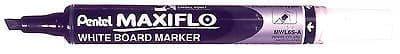 PENTEL MAXI FLO WHITEBOARD DRYWIPE MARKER PENS - FINE CHISEL TIP (MWL6S)