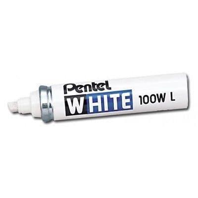 PENTEL WHITE 100WL MULTI PURPOSE PERMANENT MARKER PEN