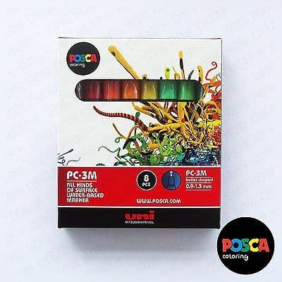 POSCA Art Paint Markers - PC-3M Spectrum Set of 8 [PACK A] - Box Set