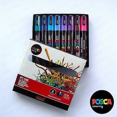 POSCA Art Paint Markers - PC-5M Spectrum Set of 8 [PACK B] - Box Set