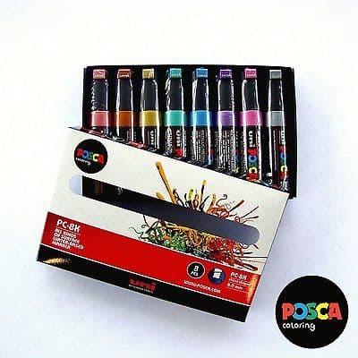 POSCA Art Paint Markers - PC-8K Essentials Set of 8 - Box Set