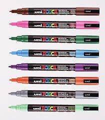 """POSCA MARKER PEN PC-5M """"FULL RANGE 33 Pen Set - All Colours"""""""