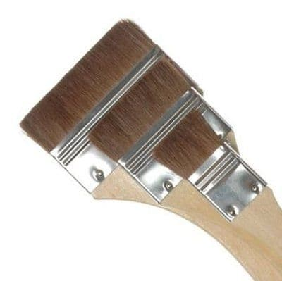"ROYAL & LANGNICKEL CAMEL HAIR FLAT BRUSH SET in 3 ASSORTED SIZES - 1"", 2"", 3"""