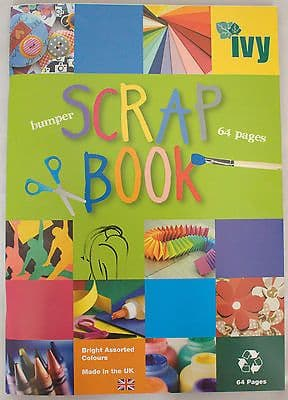 SCRAPBOOK EXTRA LARGE JUMBO 64 COLOURED PAGES 370mm x 240mm [Single Book]