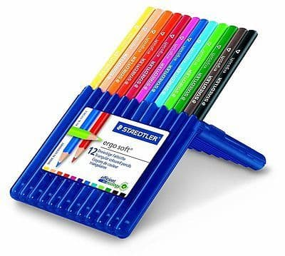 STAEDTLER ERGO SOFT PREMIUM ARTIST COLOURING PENCILS - WALLET of 12