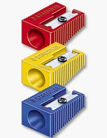 """STAEDTLER JUMBO PENCIL SHARPENER STAEDTLER 11mm 3 COLOURS """"Pack of 3"""""""