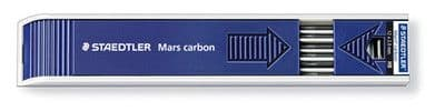 STAEDTLER MARS CARBON LEADS 2mm - for Lead Holder / Clutch Pencils - Box of 12